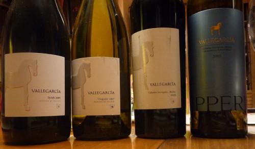 Vallegarcia Viognier , Syrah, Hipperia y Cabernet Sauvignon