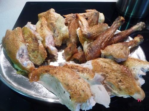 bandeja pollo
