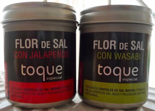 flor de sal con jalapeños y wasabi toque