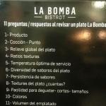audit de platos La Bomba Bistrot Madrid
